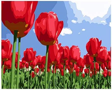 OKOUNOKO Puzzle pour Adultes 1000 Piece 3D Beaucoup De Tulipes Bricolage Art Home Decor pour Le Salon en Bois Assemblage Personnalisé Pièce De Puzzle Jeu | De Haute Qualité