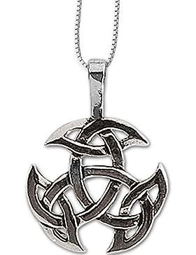 Anhänger Keltischer Knoten Amulett 925er Silber Schmuck Schutzamulett Dreifalt mit Kette Halskette Silberkette...