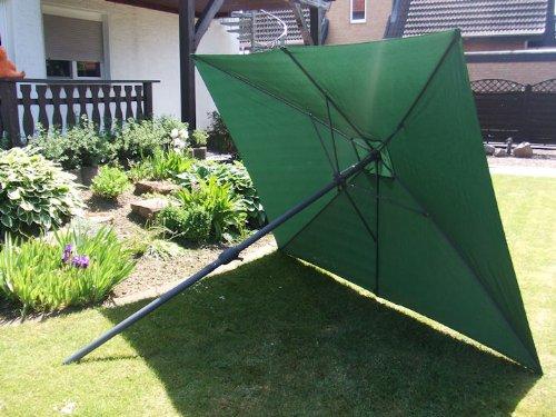 Sonnenschirm 3x2 Meter GRÜN mit Kurbel