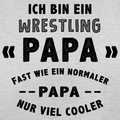 Ich bin ein Wrestling Papa - Herren T-Shirt - 13 Farben Hellgrau