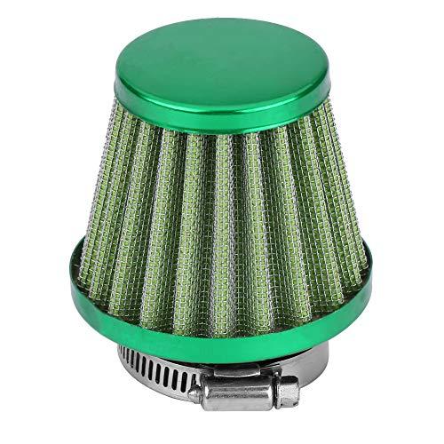 Filtro dell'aria con morsetto, kit di aspirazione del filtro dell'aria da 38 mm per moto fuoristrada ATV Quad Dirt Pit Bike(verde)