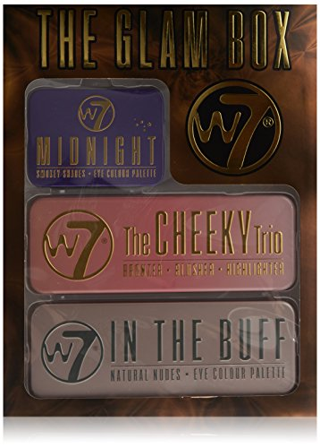 W7 Glambox contains 3 Lidschatten Palette: In the Buff, The Cheeky Trio und Midnight, 1er Pack