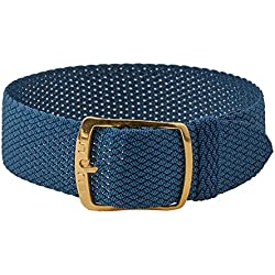 Kristall Replacement Band Perlon Strap Textile Strap blue, braided, waterproof 25625G, width:14mm