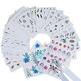 CELINEZL CELINEZL 40 PCS Nail Sticker Design colorato Decalcomanie for il trasferimento dell'acqua
