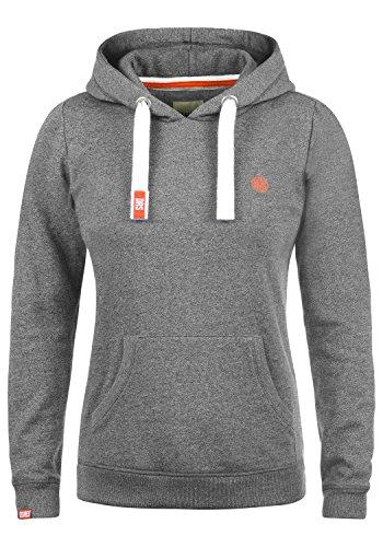 DESIRES Bennja Damen Damen Hoodie Kapuzenpullover Pullover Mit Kapuze, Größe:S, Farbe:Grey Melange (8236)