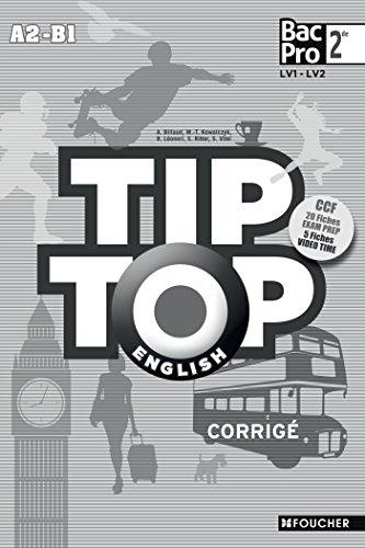 TIP-TOP ENGLISH Seconde Bac Pro Corrigé PDF Books