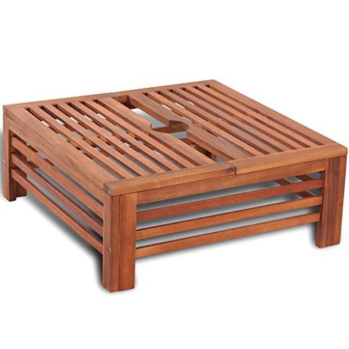 vidaXL Table d'appoint en Bois pour Pied de Parasol