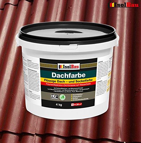 Dachfarbe Sockelfarbe Dachbeschichtung Dachlack Dachsanierung Polymermembran 4 kg Ziegelrot