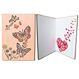 PETAFLOP beste Freundin Geschenk Frauen Geschenk Grußkarte Holz Schmetterling Relief Hochzeit Geburtstagskarte, Glückwunschkarten Liebe Danke