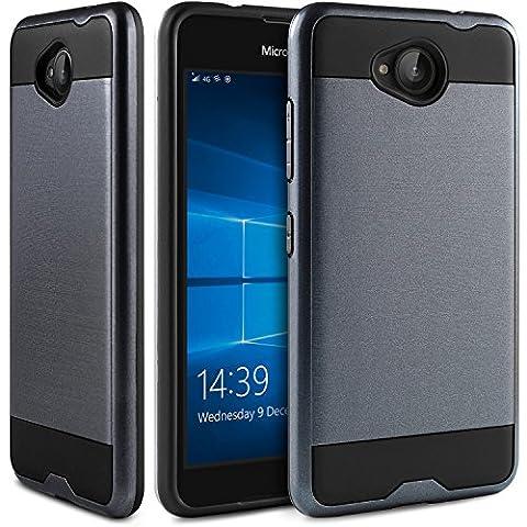Coque Microsoft Lumia 650, BEZ® étui de Protection Antichocs - Combo Coques de Protection Dures et Souples Hybride en Caoutchouc Haut Impact Defender pour Microsoft Lumia 650 - Bleu Marine
