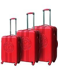 Lee cooper - val3abslinesilver - Ensemble de 3 valises à roulettes gris line