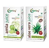 Made from pure organic amla and aloevera grown at company owned certified organic farms, These juices provide complete detox package, Helps flushing out dangerous toxics from your body, Try this package for a month and you will find yourself much fit...