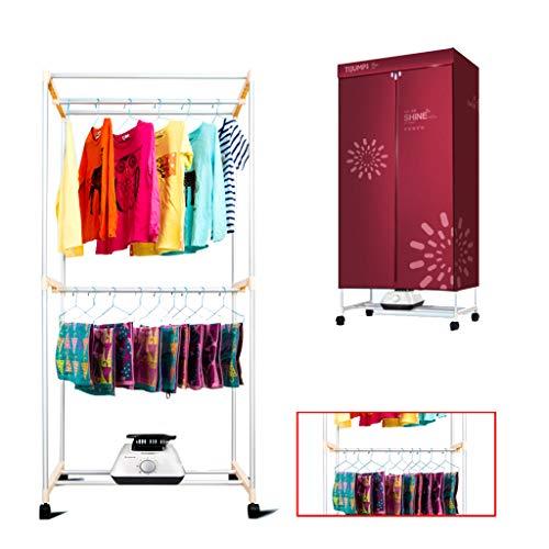Romx asciugatrice elettrica portatile 1200w asciugatura ad aria calda 1,5 metri asciugabiancheria timer con telecomando per condominio
