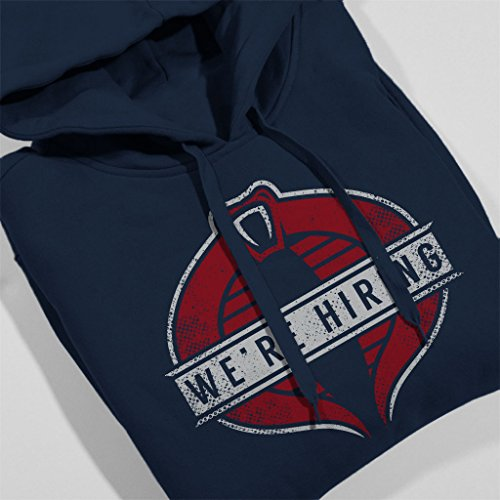 GI Joe Cobra Commander We're Hiring Women's Hooded Sweatshirt Navy blue