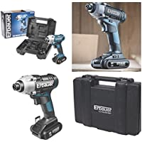 Costruttori 18V Cordless Lithium Impact Driver Complete Kit with 2x 2.0Ah Li-ion Batteries, Fast Charger (Cordless Impact Driver Kit)