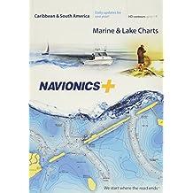 Navionics Caribbean & S. Amerika, SD-kaart Zeekaart op SD/Micro-SD-kaart - MSD/NAV+3XG