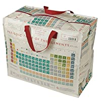 dotcomgiftshop Large Storage Bags with Zips - Strong and Durable 55 x 48 x 28cm 70l - Choice Of Design (Periodic Table)