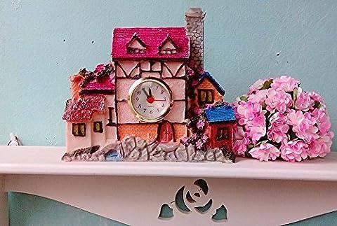 Heureux hut Réveil creative fashion montres réveil table résine