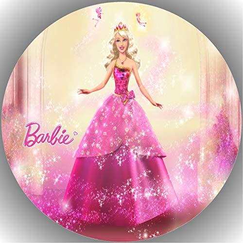 Fondant Tortenaufleger Tortenbild Geburtstag Barbie T5