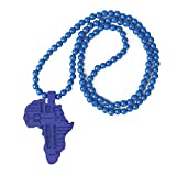 Wunderschöne Perle Hiphop Style afrikanischen Kontinent Anhänger Charm-Halskette Blau