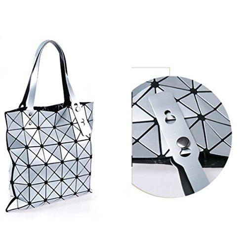 Weibliche Tasche Sorte Falten Umhängetasche Handtasche Geometrie Lingge Laser Handytasche C