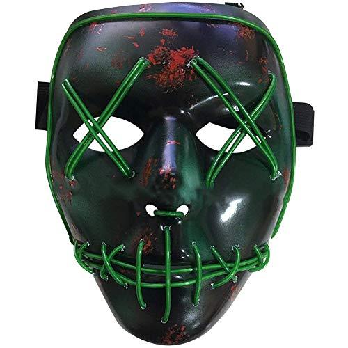 BESTZY Halloween Masken, Erschreckend Leuchten Maske,Karneval Maske,Grimasse Maske Für Rollenspiele Halloween Party Cosplay Kostüm Requisiten