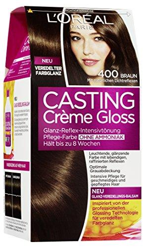 L'Oréal Paris Casting Creme Gloss Pflege-Haarfarbe, 400 Braun, 1er Pack (1 x 1 Stück)
