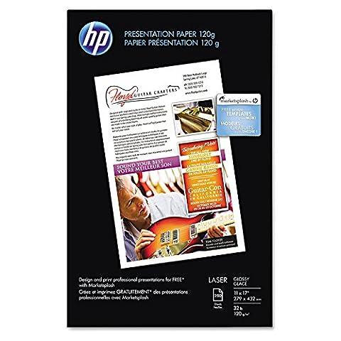 Color Laser Presentation Paper, 97 Brightness, 32lb, 11 x 17, White, 250/Pack