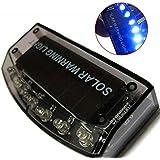 Hrph 6LED Auto Solar Cargador coche alarma contra robo alarma de la lámpara de advertencia de seguridad