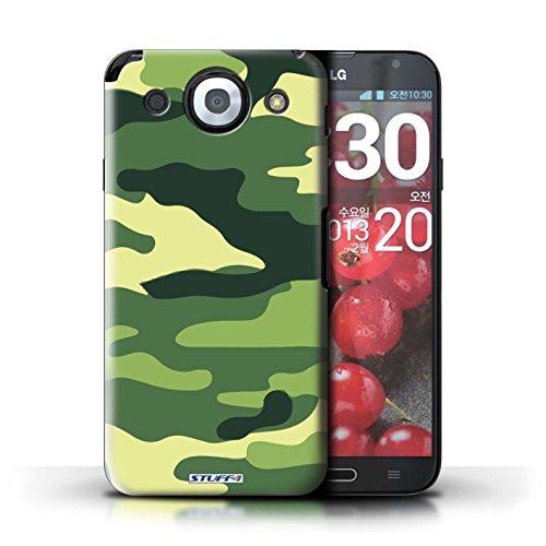 Kobalt® Imprimé Etui / Coque pour LG Optimus G Pro / Bleue 4 conception / Série Armée/Camouflage Vert 2