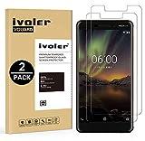 iVoler [2 Pack] Pellicola Vetro Temperato per Nokia 6.1 / Nokia 6 2018 [Garanzia a Vita], Pellicola Protettiva, Protezione per Schermo