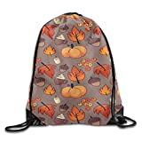 Etryrt Zaino con Coulisse,Borse Sacca,Sacchetto Maple Leaf Pattern Basic 100% Polyester Drawstring Backpack Spacious Enough Elegant String Bags 16x14 inch for Adult