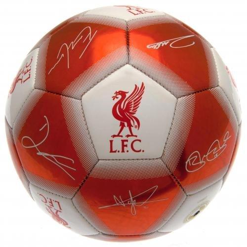Liverpool F.C. 0.00 meters, mit Mannschafts-Unterschriften, Größe 5
