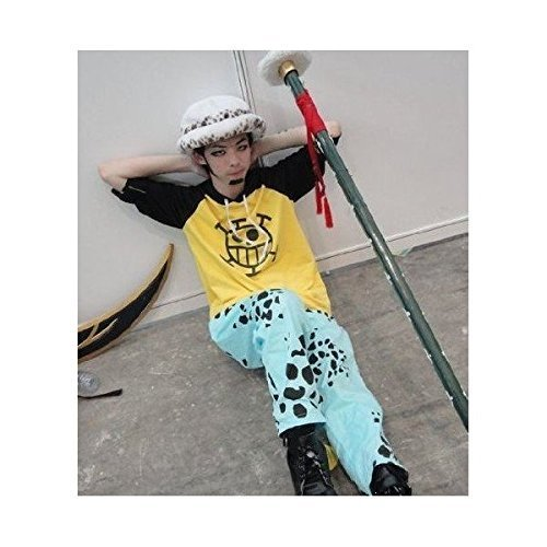 ONE PIECE cosplay costume one piece Trafalgar Law wind costume hat top and bottom set + S size costume (japan import)