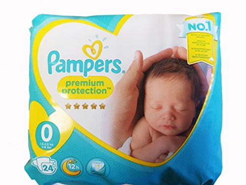 Pampers New Baby Size 0 (Micro) Carry Pack 24 x 2 Total...