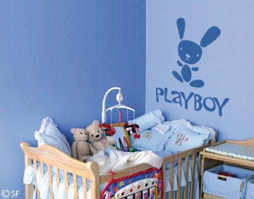Preisvergleich Produktbild Wandtattoo Playboy uss186 Wandaufkleber Wandsticker Kinderzimmer 60 x 70 shellgelb