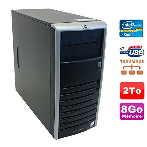 Server HP Proliant ML110 G5 Xeon x3330 2,66 GHz 8gb Scheibe 2000Go sata