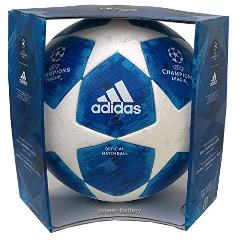 adidas Herren Finale 18 Offiziell Fußball, White/Fooblu/Brcyan, 5 -