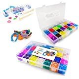 TwitFish ColourMania Loom Bandz Box Kit - Includes thousands of Loom Bands, Assorted Charms, S-Clips, Hook Tools, Loom Base