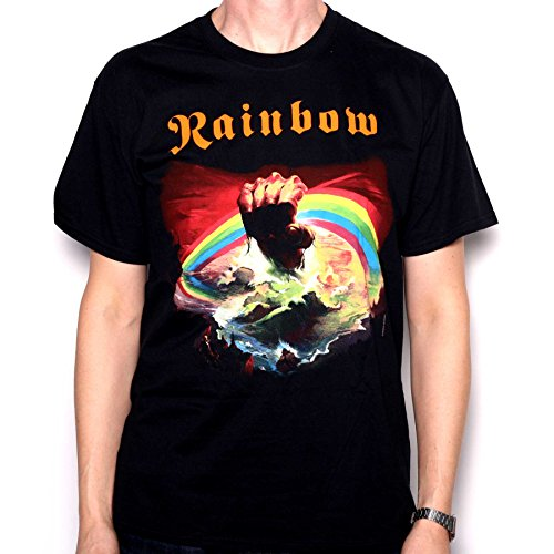 Rainbow T Shirt - Rainbow Rising 100% officielle Full Colour Screenprinted Merchandise