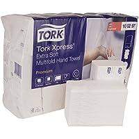 Tork 100297 Xpress Essuie-mains interfoliés extra doux pliés en M / Compatible avec le système Tork H2 Multifold / 2 plis / 21 x 100 feuilles (34 x 21 cm) - Blanc