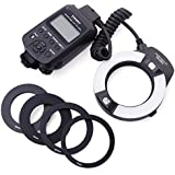 Yongnuo YN-14EX Macro Ring Flash TTL Light + Adaptateur pour Canon DSLR 6D 7D LF464