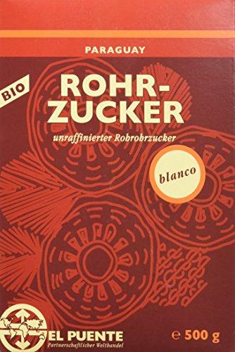 El Puente Bio-Rohrohrzucker, 4er Pack (4x 500 g Packung)