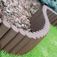 Palizzata Recinzione Da Giardino 2,4 M Di Plastica Colore: Marrone