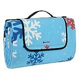 SONGMICS 200 x 200 cm XXL Picknickdecke Fleece wärmeisoliert Wasserdicht mit Tragegriff GCM70RU