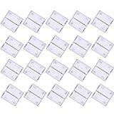 Kabenjee 20 x 5 poligen 12mm Breites RGBWW LED Band Klippbefestigung Verbinder,5 polige Schnellverbinder für RGBW LED Stripes,LED Bänder Stecker,5050 RGBW LED Lichtstreifen Anschluss Stecker(Stil:A)