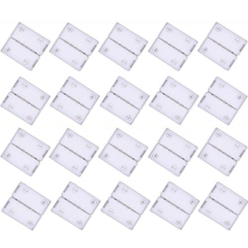 Preisvergleich Produktbild Kabenjee 20x 5pin 10mm RGBWW LED Band Klippbefestigung Verbinder, 5 polige Schnellverbinder für RGBW LED Stripes, LED Bänder Stecker Anschluss, 5050 RGBW LED Streifen Verlängerungs Verbinder(Stil:A)