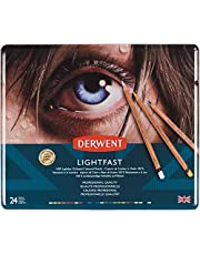 Derwent Lightfast Colouring Pencils Tin (Pack of 24, Multicolour)