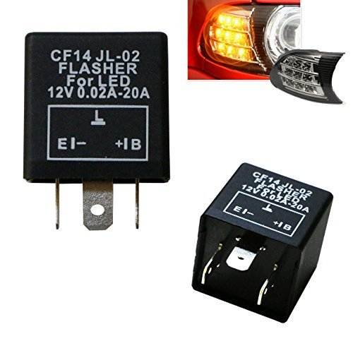 Price comparison product image iJDMTOY (1) 3-Pin CF14 EP35 Electronic LED Flasher Relay For LED Related Turn Signal Bulbs Hyper Flash Fix