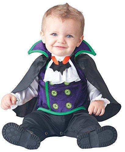 Charakter Kostüme (Deluxe Baby Jungen Anzahl Cutie Vampir Charakter Halloween Kostüm Kleid Outfit - Schwarz, 18-24)